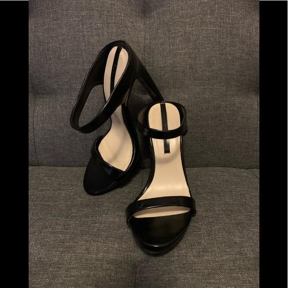 Zara Black Strappy Mule Sandal
